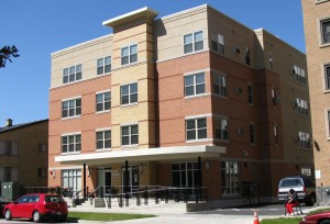 The McAuley Apartments, a 45-unit affordable housing complex supporting women with limited income. IFF provided a 17-year $900,000 first mortgage the developer, St. Catherine Residence.