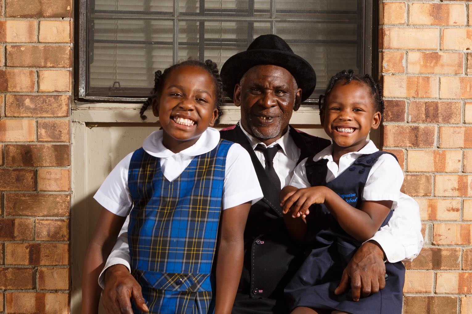 Bobby Monger and his granddaighters Angel and Nicole.