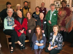 In attendance were Barbara Kavanaugh, SND, Ruth Ella, SND, Lois Silva, OP, (San Rafael), Lucille Shea OP (San Rafael), Diane Nixon, SNJM, Dorothy McCormack, OSF, Paula Lewis, OSF Associate, and Corinne Florek of RCIF, who visited with residentsCarla Delloso, Conway Anderson, Michelle Acosta and Cristian Lopez, as well as Valerie Zekas from the Land Trust. Photograph by Jeanne Hallacy.