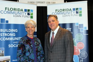 Corinne Florek with Rich Rollason, Development Officer, Florida Community Loan Fund, at the RCRI conference in Orlando.
