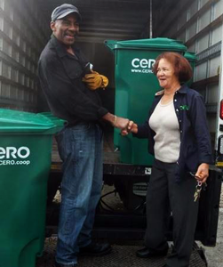 CERO (Cooperative Energy, Recycling, and Organics) is an award-winning, worker-owned commercial composting company.